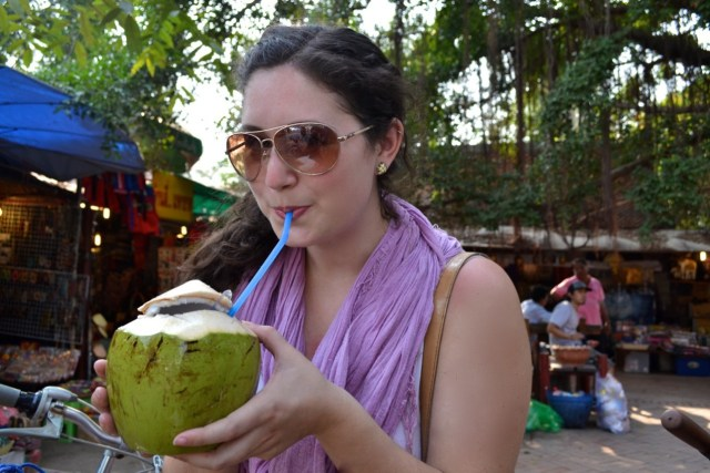 girl coconut Thailand