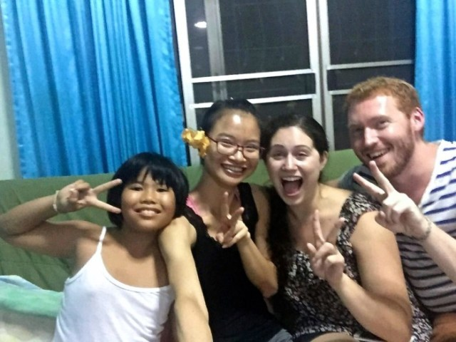 With Chinese friends, selfies are always involved.