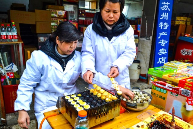 China quail eggs
