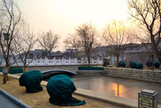 Beijing frozen river