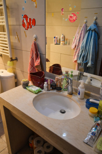 Beijings studio apartment bathroom