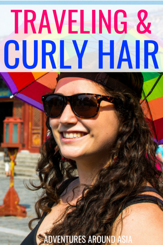 Not sure how to manage your curly hair while traveling? Don't know how to find your curly hair products abroad? After 5 years in China I've mastered curly hair abroad! #curlyhair #hair #travel #liveabroad #cgmethod