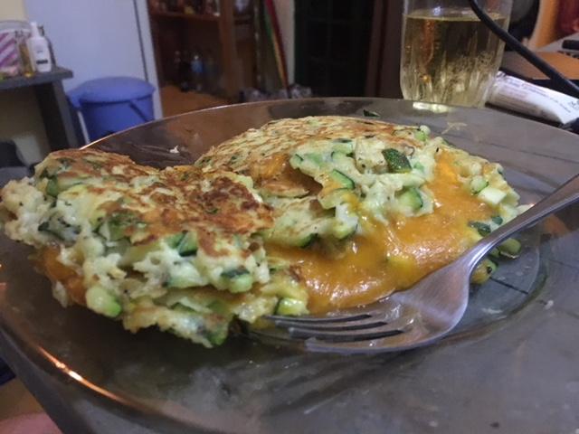 Zuchini grilled cheese