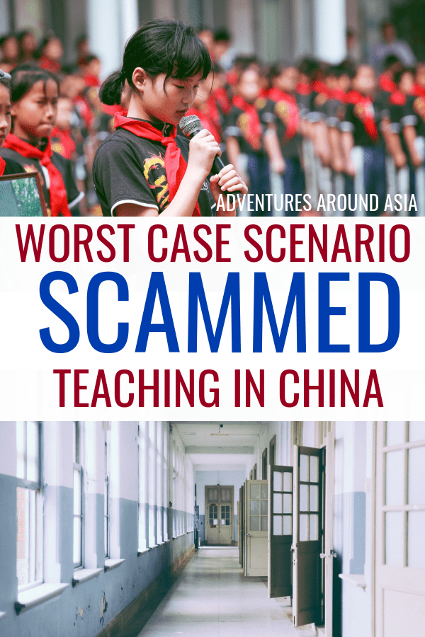 How do you avoid scams while teaching abroad in China? Here are some of the biggest teach abroad scams, and how to avoid them as an expat in China! #China #teachabroad #travel #travelblog