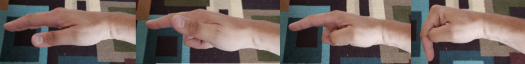 how to make the thumb lock while looking at the side of the hand