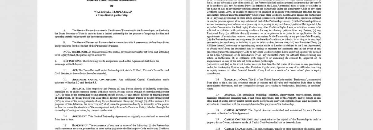 Preamble this agreement is made and entered into by and between. Real Estate Partnerships Jv Agreement Template Adventures In Cre