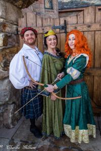 Merida , Scottish King Fergus, and Queen Elinor