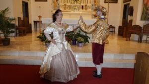 Pocahontas and John dance Pavane