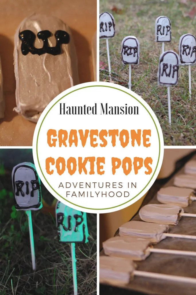 Haunted Mansion Inspired Gravestone Cookie Pops