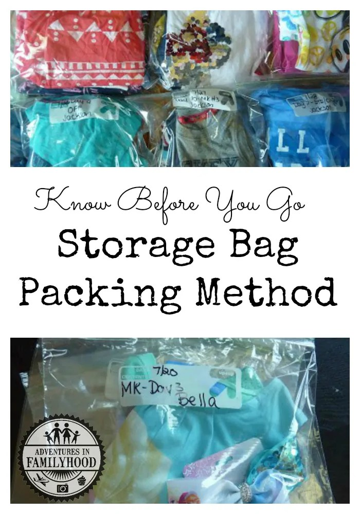 Save time on your next vacation by using the Storage Bag Packing Method to pack your kids' clothes | Family Travel | Travel with Kids | Disney Travel