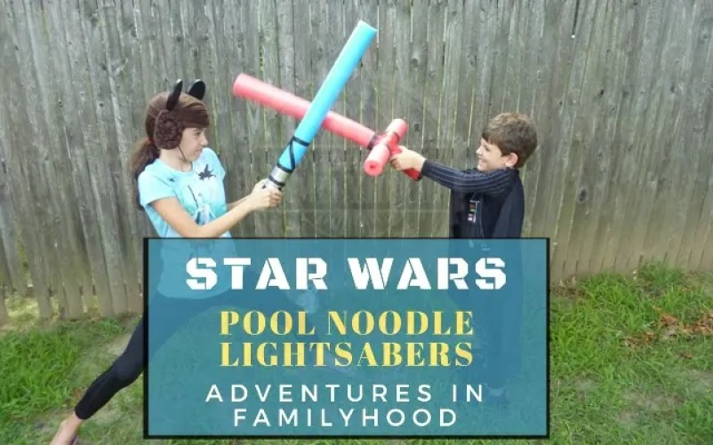 DIY Star Wars Pool Noodle Lightsabers