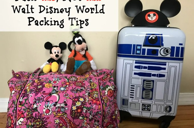 Packing Tips for Your Disney Vacation with Free Packing Printable