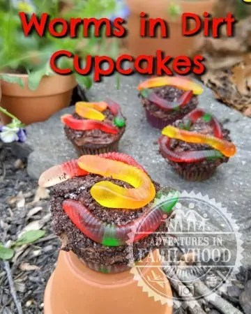 Worms in Dirt Cupcakes