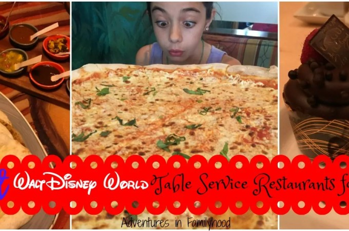 The Best Walt Disney World Table Service Restaurants for Kids