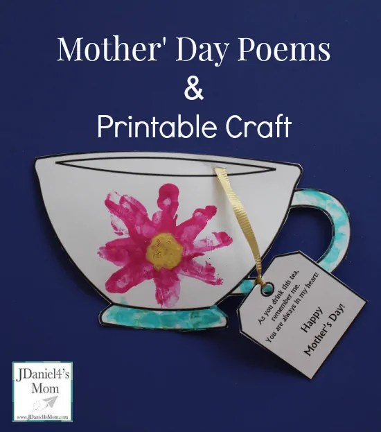Adorable Mothers Day Handprint Flower Craft and Free Template