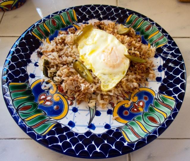 Arroz Con Machaca (with egg)