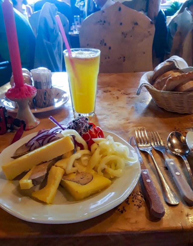 Goose Liver Pate with Onions, Paprika Vendéglő Restaurant, Budapest, Hungary