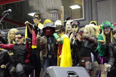 A couple of Robins, some Harleys, a Catwoman and my favorite Deadshot from the con.