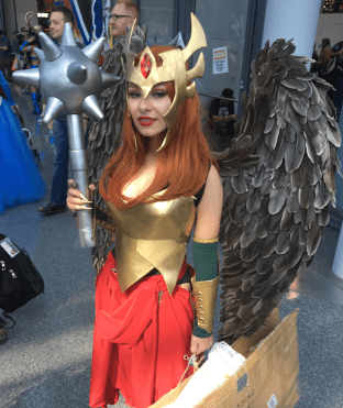 Poor Hawkgirl was getting swarmed. She looked amazing though!