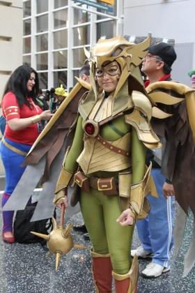Shayera's war goddess armor is my favorite version of Hawk Girl