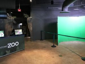 Green screen hippo photo at San Antonio Zoo. Included in Photo Package