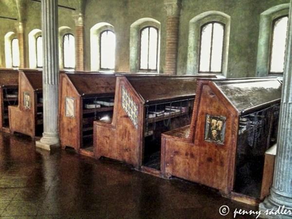 Book benches A walk around Cesena. @PennySadler 2013