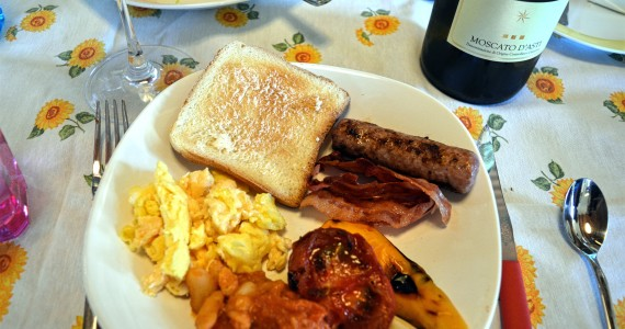 A surprise food and wine pairing Moscato for Breakfast