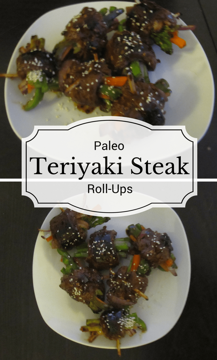These paleo teriyaki steak roll ups are bursting with flavor, loaded with vegetables, and all wrapped up in a package even your kids are sure to love.