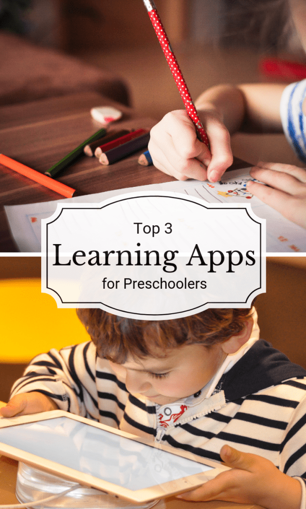 How our children are learning is very different from how we learned. Navigating this can be tricky, so I'm sharing my top 3 learning apps for preschoolers.