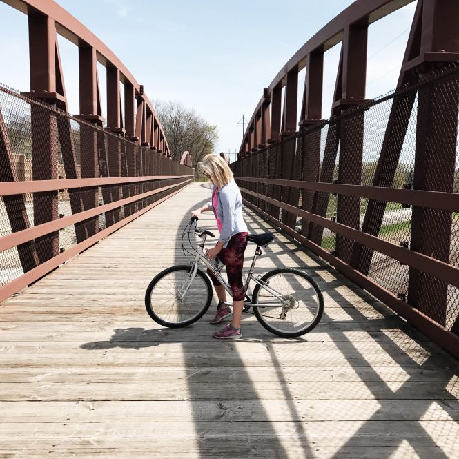 Bike riding on the Luce Line trail, outdoors, Minnesota, trails, explore