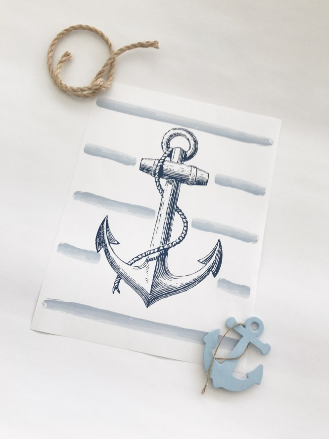 Anchor Freebie, printable, monthly freebie from Adventures of And