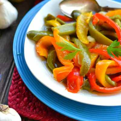 Roasted Garlic Peppers