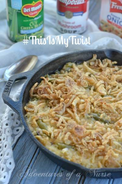 #ThisIsMyTwist Cheesy Risotto Green Bean Casserole