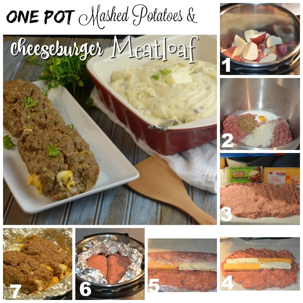 Instant Pot One Pot Cheeseburger Meatloaf and Potatoes