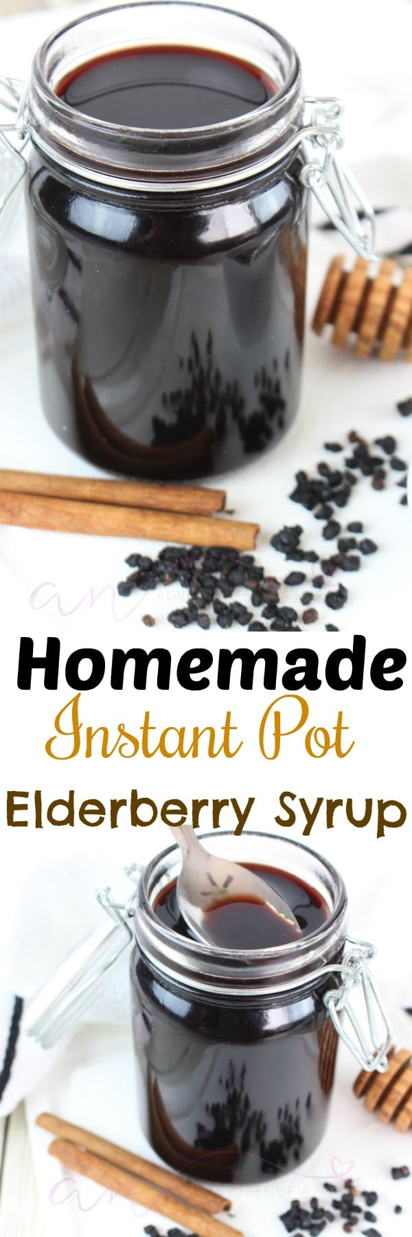 Instant pot Homemade Immune boost Elderberry Syrup