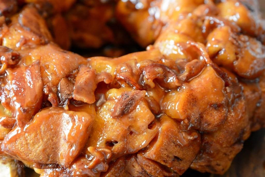 salty bacon cinnamon roll monkey bread