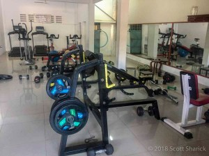 The Fit is a small gym in Kampong Cham with clean and modern equipment