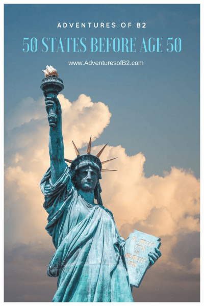A bucket list challenge to see all 50 states before the age of 50. How many have you been to? #50statesbeforeage50 #bucketlist #vacations #ustravel