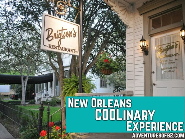 New Orleans Coolinary experience with upscale new orleans restaurant - Brigtsen's restaurant