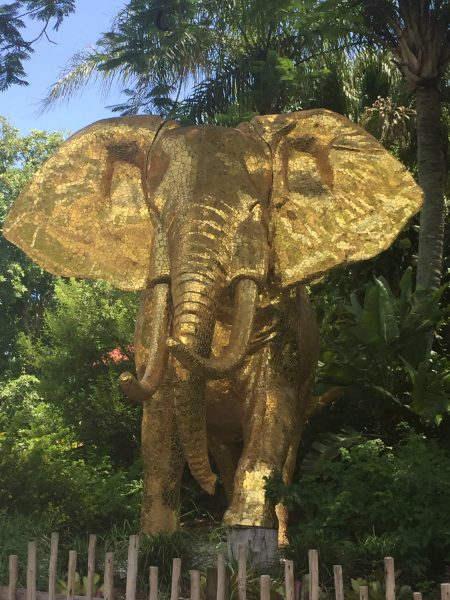 gold elephant in the miami zoo - An amazing sight to see. See more things to do in miami over at adventures of b2