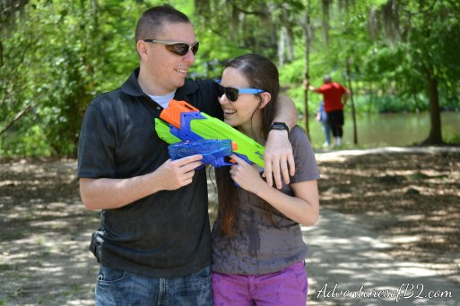 This water gun photo shoot is a sure fire way to make you feel like a kid again! Although for us, it was just a fun shoot, it would be perfect for a fun couple who is newly engaged or even married to do.