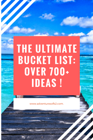 The ultimate bucket list for life! Over 700 ideas for personal development, travel, career, etc.