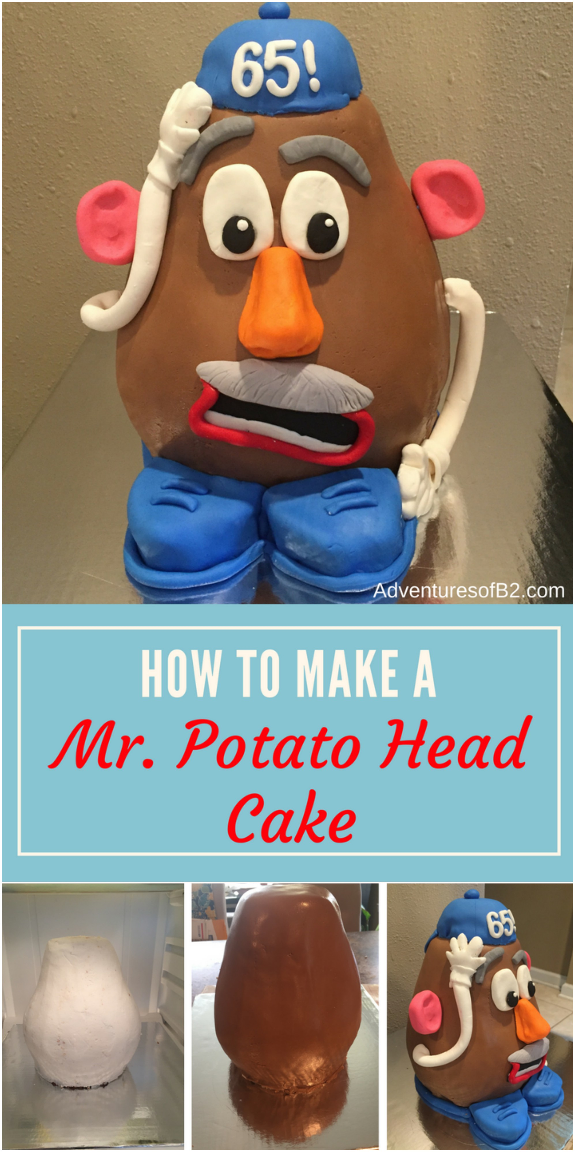 How to make a Mr. Potato Head Cake