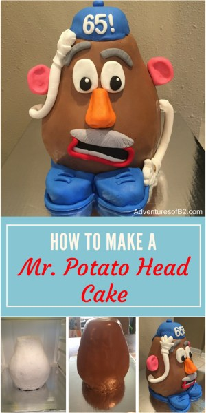 Here is a step by step tutorial on how to make a 3D carved Mr Potato head cake to celebrate 65 year of fun with this adorable toy! - Adventures of B2