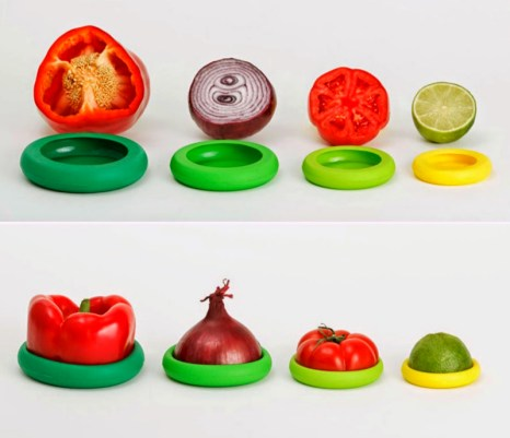Food-Huggers-are an amazing gift that helps perishable food last longer. After you chop what you need off your vegetable, wrap the food hugger around it to preserve your item longer. For other great kitchen gift ideas, go to adventuresofb2.com