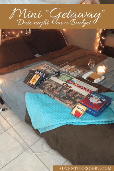 Spice up date night with this cheap at home date night idea! Surprise your spouse with a mini getaway right in the comforts of your own home.