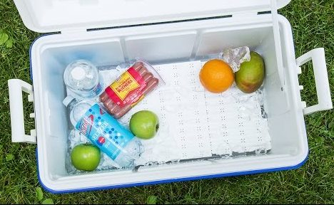 Have a perfect picnic or vacation with stocking up the ice chest with goodies. This cooler tray helps keep those items that just aren't meant for getting wet on top but allowing them to stay cool! For more unique gifts, visit: adventuresofb2.com