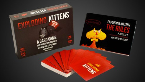 exploding-kittens-card-game-adult version is only for mature audience. They also have a version for kids. For more great board game ideas, visit adventuresofb2.com
