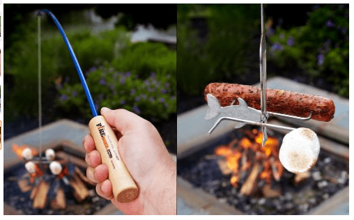 fishing pole for campfire