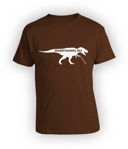 Give your grandpa a laugh with this grandpasaurus rex t-shirt. for more unique gifts, go to adventuresofb2.com